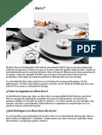 Cómo de organiza la información en la PC - El disco duro