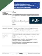 GUÍA DBA 17 Aplicación de las medidas de tendencia central en un conjunto de datos cuantitativos agrupados