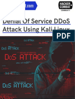 DDOS attack using Kali