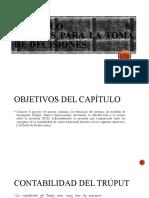 CAPITULO 8 COSTOS PARA LA TOMA DE DECISIONES