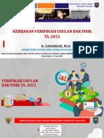 Kementerian Dalam Negeri-Kebijakan Verifikasi Usulan DAK Fisik TA. 2021