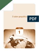 O Saber Geográfico