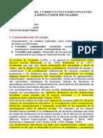 1. FACTORES QUE INFLUYEN EN EL DESARROLLO CURRICULAR 2020 - RESUMEN