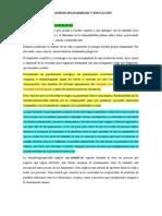 2. TRANSDISCIPLINARIEDAD Y EDUCACIÓN - RESUMEN