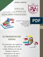 TEMA 7 - EL PRONÓSTICO DE VENTAS Y EL PUNTO DE EQUILIBRIO FINANCIERO (1)