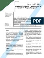 NBR 13915 - Instrumental cirurgico - Afastadores de aco inoxidavel - Requisitos gerais.pdf