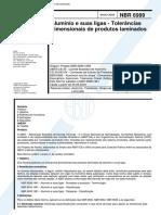 NBR 6999 PB 895 - Aluminio e suas ligas - Tolerancias dimensionais de produtos laminados.pdf