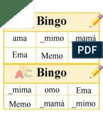 Bingo de palabras ligada