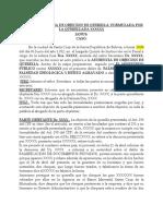 AUTO DE OBJECION DE QUERELLA