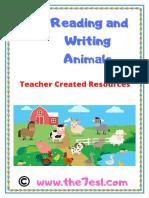 Reading and Writing Animals www.the7esl.com. pdf