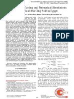Swelling Rock Model Laboratory Validation