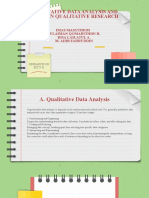 Qualitative Data Analysis and Rigor in Qualitative Research