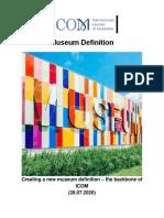 ICOM - New Museum Definition - 28.07.2020
