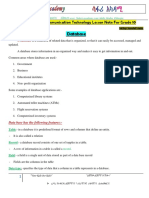 ICT Lesson Note