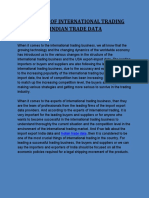 The Review of International Trading Experts on Indian Trade Data