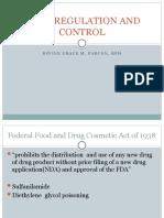 2 DRUG REGULATION AND CONTROL