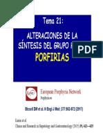 T21 - síntesis hemo - porfirias 18-19