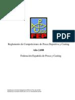 Reglamento de Competiciones de Pesca Deportiva y Casting 2008