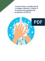 1. PROTOCOLO GENERAL DE BIOSEGURIDAD DE LAVADO DE MANOS Y DESINFECCION DEL PERSONAL