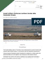Israeli military reinforces northern border after Hezbollah threats — RT Newsline