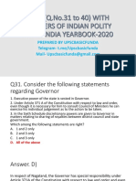 MCQ_Q_No_31_to_40_OF_INDIAN_POLITY_WITH_ANSWERS_FROM_INDIA_YEARBOOK