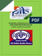 PIB & AIR NEWS (11.06.2020-13.06.2020)