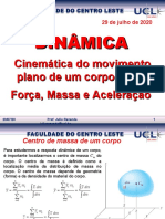 Aulas_Cinética_corpos_rigidos_Força_massa_aceleração