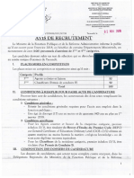 AVIS DE RECRUTEMENT DE 100 PERSONNELS D'ASTREINTES 2018 FRENCH