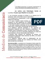 200728 Np Presidenta Diaz Ayuso Estrategia Continuidad Covid-19 0