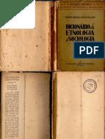 Baldus, Herbert & Emilio, Willems - Dicionário de Etnologia e Sociologia (1939)