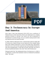 Day 3 - Technocracy in Europe and America