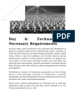 Day 6 - Technocracy's Necessary Requirements