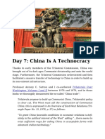 Day 7 - China is a Technocracy