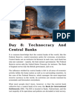 Day 8 - Technocracy and Central Banks