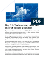 Day 11 - Technocracy and the Rise of Techno-populism