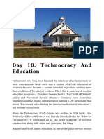 Day 10 - Technocracy and Education