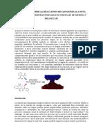 Información sobre las reacciones mecanoquímicas a nivel molecular