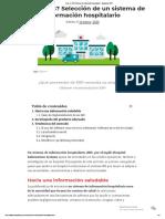 ¿Qué es HIS_ Sistema de información hospitalario - Evaluando ERP