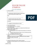DESARROLLO DE TALLER CUENTO Y FABULA