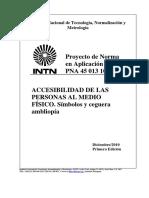 PNA 45 013 10 – Símbolos de ceguera o ambliopía