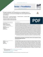 El papel mediador de la autoeficacia y la utilidad entre el conocimiento y el uso de estrategias de autorregulación del aprendizaje