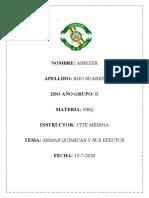 ARMAS QUIMICAS R.S