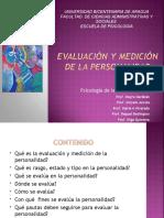 UNIDAD III 1 MEDICIÓN Y EVALUACIÓN DE LA PERSONALIDAD