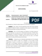 MODELO CARTA NOTARIAL - PAGO DE ALQUILER O DESALOJO