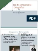 Correntes de pensamento Geográfico