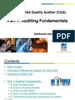 ASQ Certified Quality Auditor (CQA)