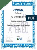 Certificado - LIDIA JOGOS DE EMPRESAS