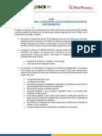 AVISO OSCE - COMUNICADO DGA ELEVACION