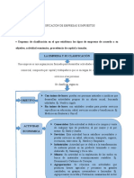 CLASIFICACIÓN DE EMPRESAS E IMPUESTOS