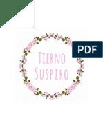 RECETARIO TIERNO SUSPIRO
